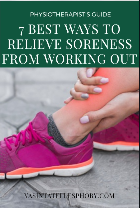 Relief muscle soreness from working out