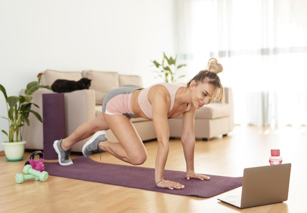 Mountain climbers to build the abs